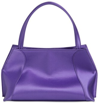 BY FAR Charlotte Satin Top Handle Bag