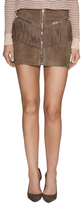 The Kooples Suede Fringe Mini Skirt