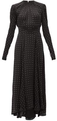 Paco Rabanne Crystal-embellished Satin Dress - Womens - Black