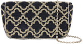 Accessorize Nolita Velvet Baguette Cross Body Bag