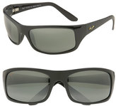 Maui Jim Men's 'Peahi - Polarizedplus2' 67Mm Sunglasses - Gloss Black / Neutral Grey