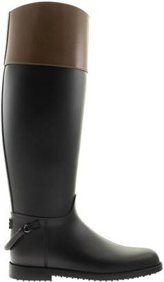 Brunello Cucinelli Boots Rubber And Pull-up Leather Boots With Precious Spur