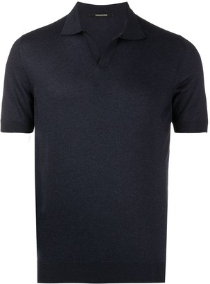 Tagliatore Short-Sleeved Knitted Polo Shirt