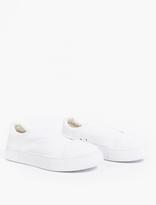 Eytys White Canvas Slip-On 'Doja' Sneakers
