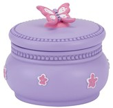 Kassatex Butterfly Bath Canister Purple