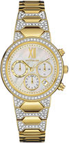 Wittnauer Womens Crystal-Accent Gold-Tone Stainless Steel Bracelet Watch WN4069