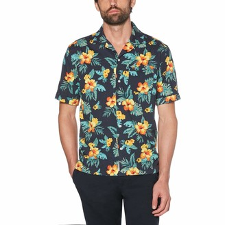 Original Penguin Hibiscus Print Camp Collar Shirt