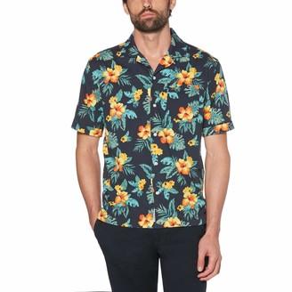 Original Penguin Hibiscus Print Poplin Shirt