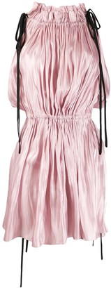 16Arlington Drawstring Satin Mini Dress