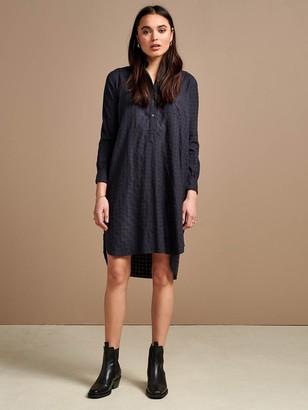 Bellerose Amerik Dress In Blue Check - 8