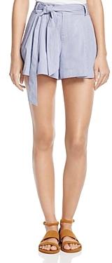 Parker Striped Belted Shorts