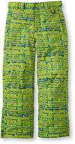 L.L. Bean Boys' Glacier Summit Waterproof Pants, Print