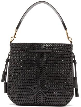 Anya Hindmarch Neeson Woven-leather Bucket Bag - Womens - Black