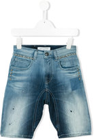 John Galliano studded denim shorts - kids - Cotton/Polyester/Spandex/Elastane/Rayon - 6 yrs
