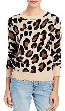 Elan International Leopard Print Sweater