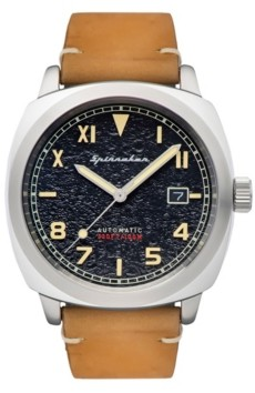 Spinnaker Men's Hull California Automatic Brown Genuine Leather Strap Watch 42mm