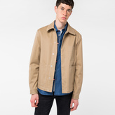 Paul Smith Men's Sand Cotton-Twill Stretch Chore Jacket