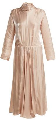 Prada Draped Charmeuse Dress - Womens - Pink