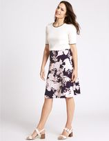 Marks and Spencer Floral Print A-Line Midi Skirt