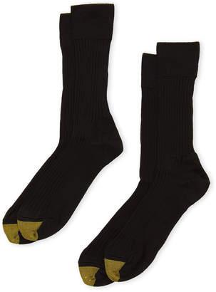 Gold Toe Two-Pack English Rib Crew Socks