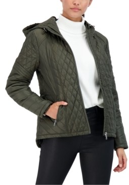 Sebby Juniors' Hooded Water-Resistant Quilted Coat