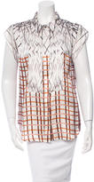 Mary Katrantzou Printed Button-Up Top