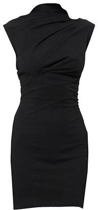 RtA Holly Twisted Jersey Mini Dress