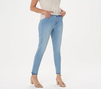 Isaac Mizrahi Live! TRUE DENIM Petite Polka Dot Ankle Jeans