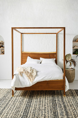 Anthropologie Prana Live-Edge Canopy Bed By in Brown Size Q top/bed