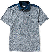Under Armour Golf Playoff Color Block Space-Dyed Novelty Polo Shirt