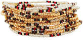 Neiman Marcus On the Bead Beaded Bracelet, Golden