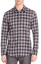 John Varvatos Slim-Fit Gingham Button-Down Shirt
