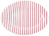 Vietri Red Stripe Medium Oval Platter