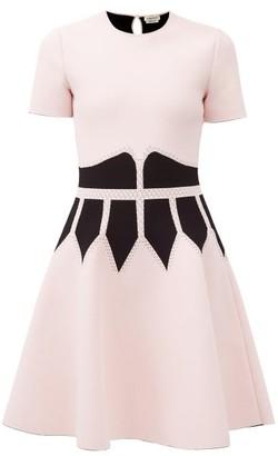 Alexander McQueen Corset-jacquard Stretch-knit Mini Dress - Pink Multi