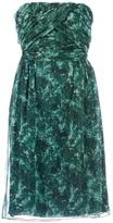 Giambattista Valli printed strapless dress