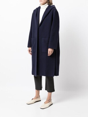 Proenza Schouler White Label Hooded Single-Breasted Coat