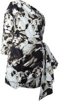 Roberto Cavalli leopard camouflage short dress - women - Silk - 44