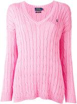 Polo Ralph Lauren v-neck jumper - women - Cotton - S
