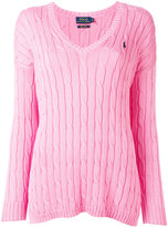 Polo Ralph Lauren v-neck jumper - women - Cotton - XS