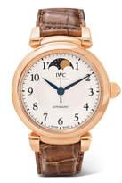 IWC SCHAFFHAUSEN - Da Vinci Automatic Moon Phase 36 Alligator And 18-karat Red Gold Watch