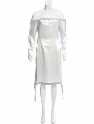 Vivienne Hu Off-the-Shoulder Mini Dress Silver