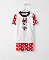 Kids Disney Minnie Mouse Short John Pajamas In Organic Cotton