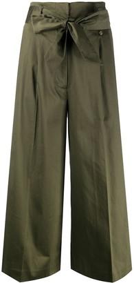 Liu Jo Cropped Sequin Stripe Trousers