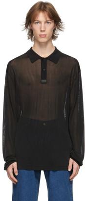 Eytys Black Axis Long Sleeve Polo