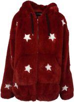 Filles a papa Faux Fur Star Embellished Jacket