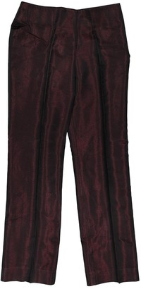 Montana Red Viscose Trousers
