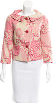 Elie Tahari Wool-Blend Patterned Blazer