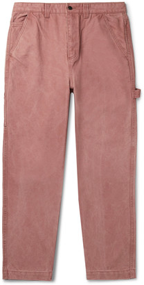 Stussy Washed Cotton-Canvas Cargo Trousers