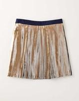 Boden Metallic Pleat skirt
