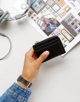 Kiomi Leather Zip Up Wallet In Black